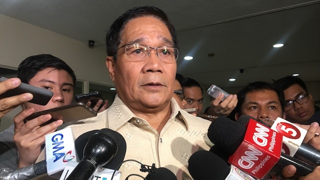 MINDANAO ONLY. National Security Adviser Hermogenes Esperon Jr says there is no reason to expand martial law to cover the entire country