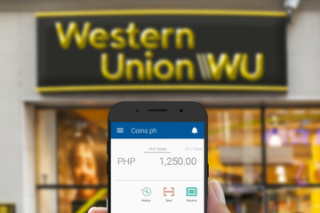 Coins ph users can now receive Western Union money transfers