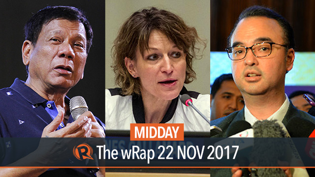 Duterte on open-pit mining, Cayetano on arbitral award, UN Human Rights Chief | Midday wRap