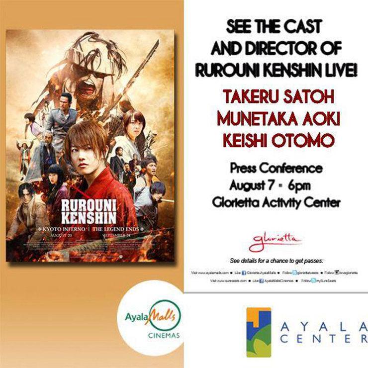 How you can see 'Rurouni Kenshin' stars, director in Manila