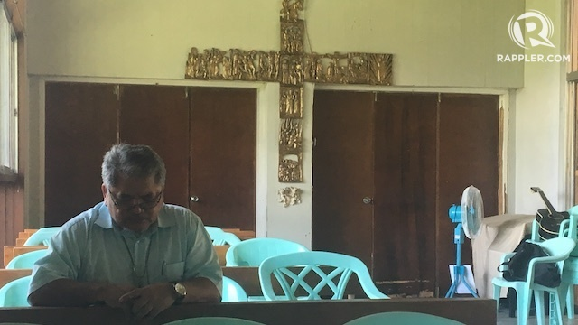 PRESSURED. Bishop Edwin dela Peña worries about Father Teresito Soganub, who was kidnapped by the Maute Group. Rappler photo