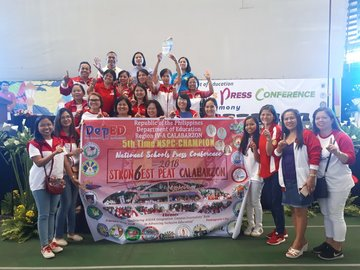 Calabarzon overall champion in National Schools Press Conference 2018