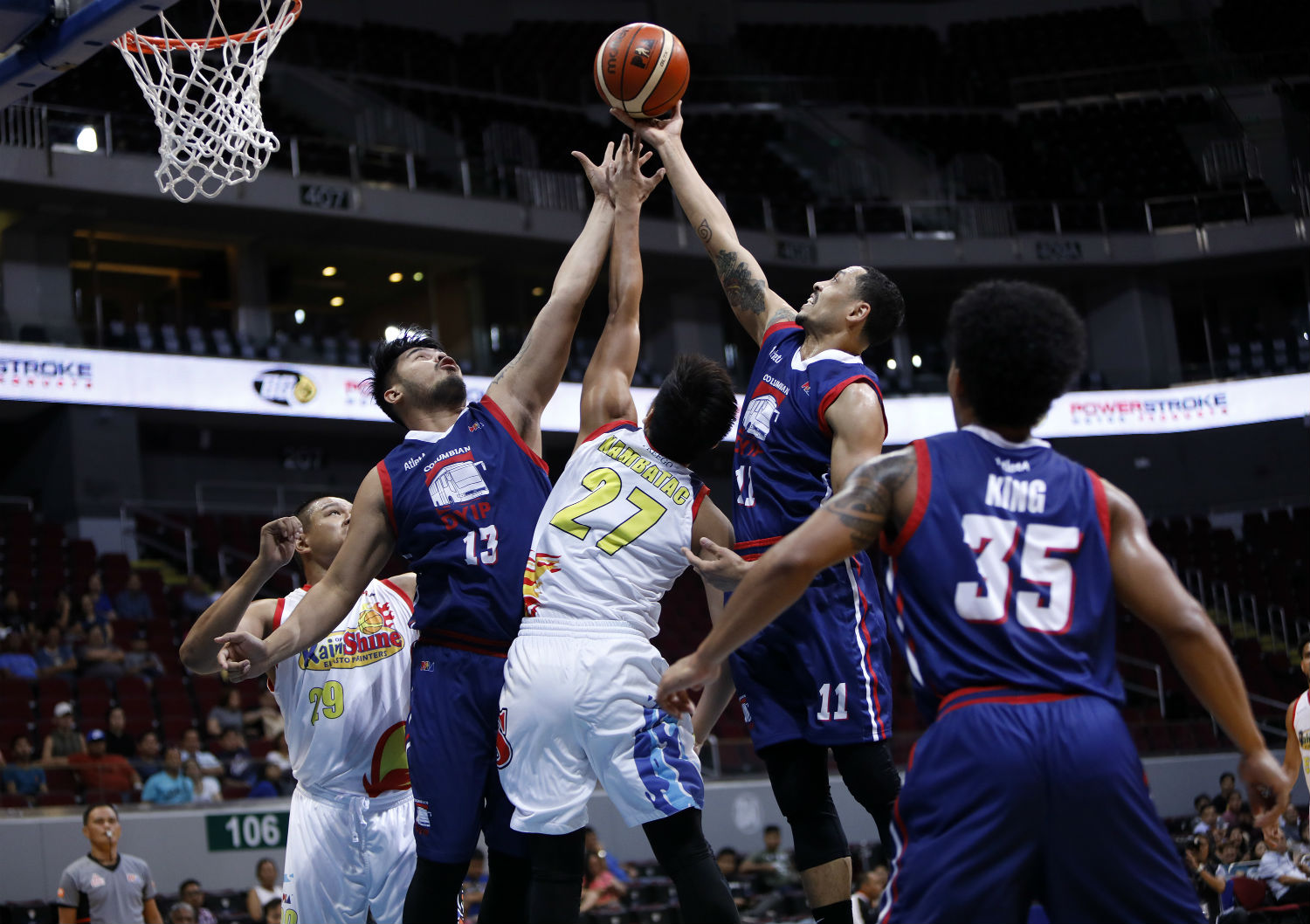 Image result for Columbian vs Rain or Shine | PBA Commissioner's Cup 2019