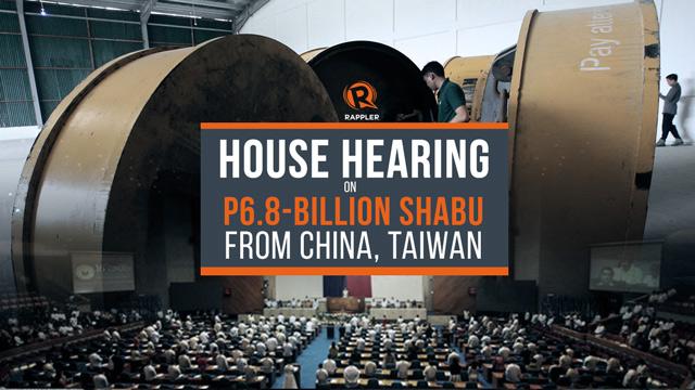 LIVE: House hearing on P6.8-billion shabu smuggled from China, Taiwan