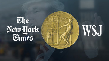 NY times & Wall Street journal awarded for investigating Donald Trump & his family