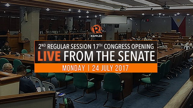 LIVE: Senate of the Philippines, 2nd regular session 17th Congress opening