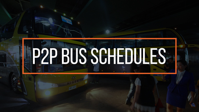 P2p Bus Schedules For Holy Week 2018