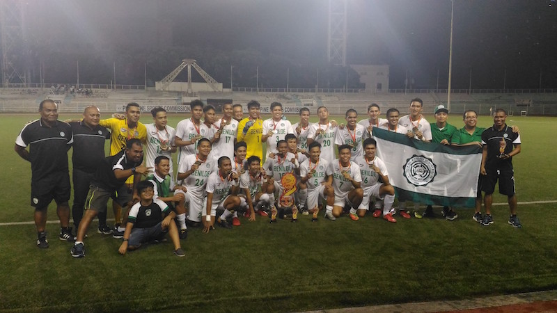 College of St Benilde beats AU, ends title drought in NCAA football