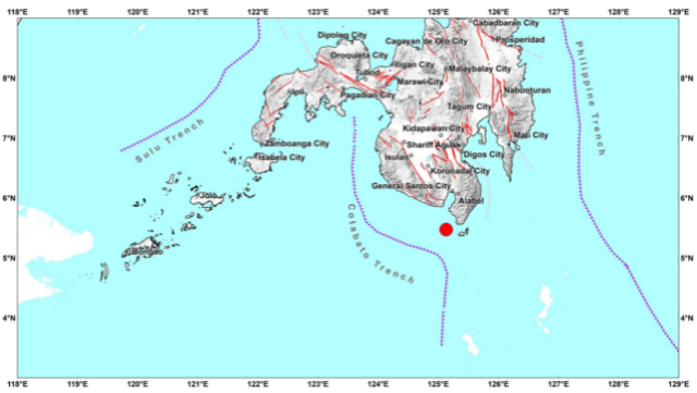 Magnitude 6.1 earthquake rocks Sarangani
