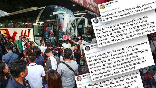 Anti-poor, anti-commuter': Netizens lambast provincial bus ban