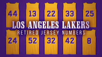 timeless design 2e53c 16fb7 LOOK: Retired jersey numbers in Lakers history
