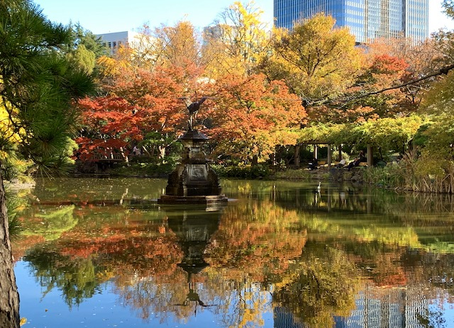 FALL COLORS. Leaves turn red, orange, yellow and golden in Hibiya Park. Photo by Chay Hofileña/Rappler