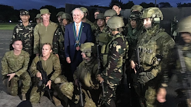 COOPERATION. Australian Prime Minister Malcolm Turnbull hails the liberation of Marawi City from ISIS-linked groups