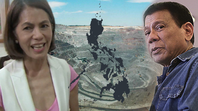 Image result for Photo of Gina Lopez and Mining with Duterte
