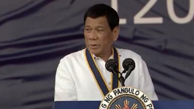 FIXING THE POLICE. President Rodrigo Duterte speaks at the Philippine Navy anniversary on May 22, 2018. RTVM screenshot