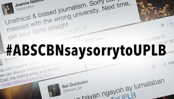 ABS-CBN News apologizes to UPLB for inaccurate report