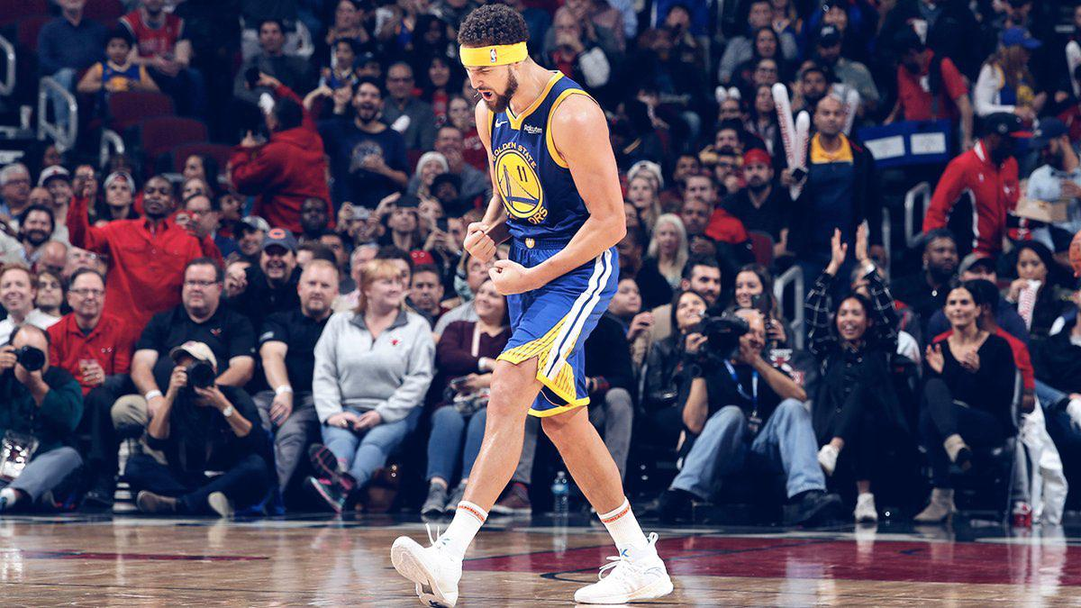 2d1e3078b825 Steph Curry pushed Klay Thompson to beat his three-point record
