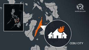 3 injured as fire razes houses in Cebu City