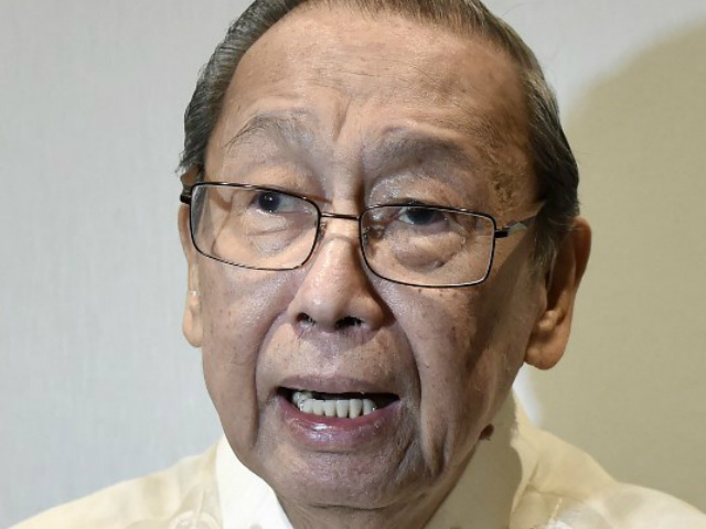 PEACE TALKS. Filipino communist leader Jose Maria Sison answers journalists' questions during the opening ceremony of the formal peace talks between the Philippine government and the National Democratic Front in Rome. File photo by Tiziania Fabi/AFP