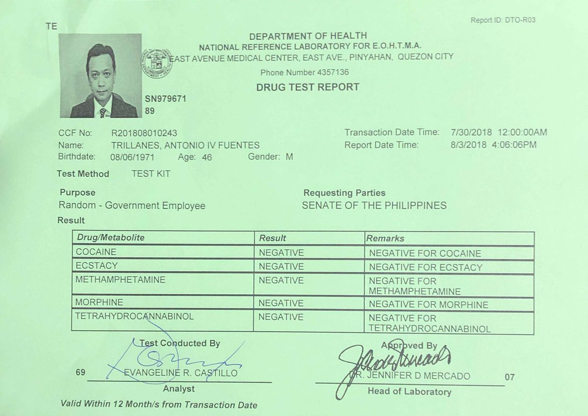 HOAX: 'Trillanes positive in Sotto's surprise drug test in Senate'