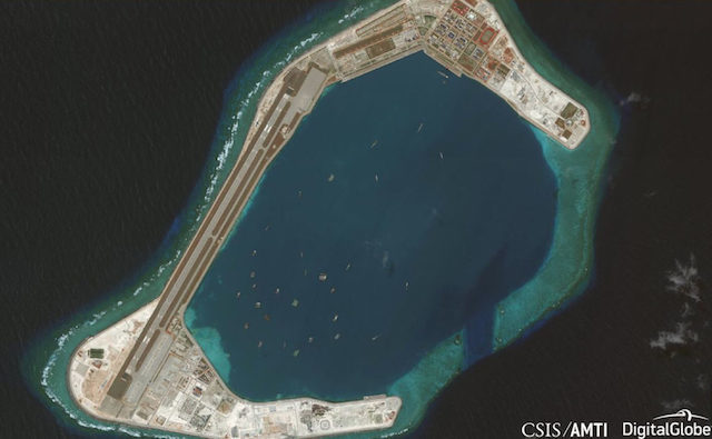 SUBI REEF. This is a photo of Subi Reef in the Spratly Islands in the West Philippine Sea taken on June 19, 2018. Photo from Asia Maritime Transparency Initiative website