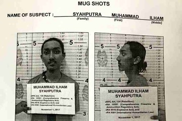 CAPTURED. Syahputra is arrested by the police. PNP photo