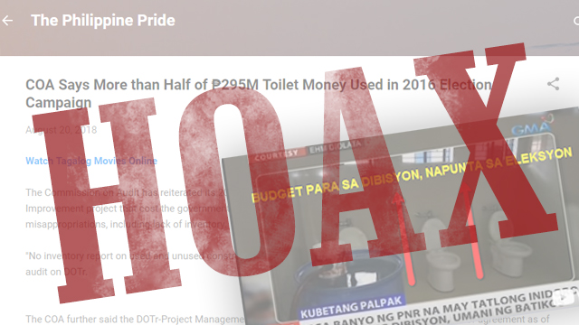 HOAX: COA \'quotes\' on PNR toilet project anomaly