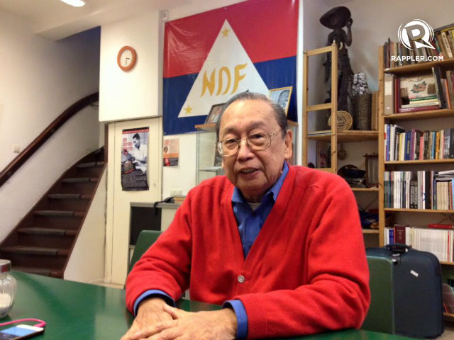 CPP FOUNDER. President Duterte wants to meet Joma Sison in the Philippines, not anywhere else. File photo by Fritzie Rodriguez