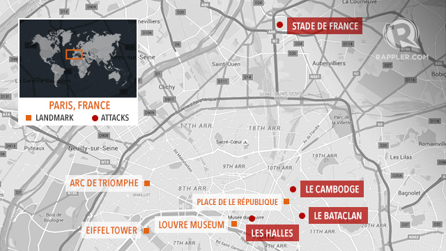 Bataclan Concert Hall Paris Map.Over 128 Killed 180 Injured In Paris Attacks