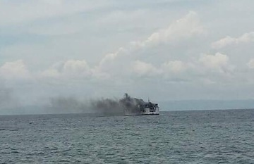Ferry catches fire off Cebu port