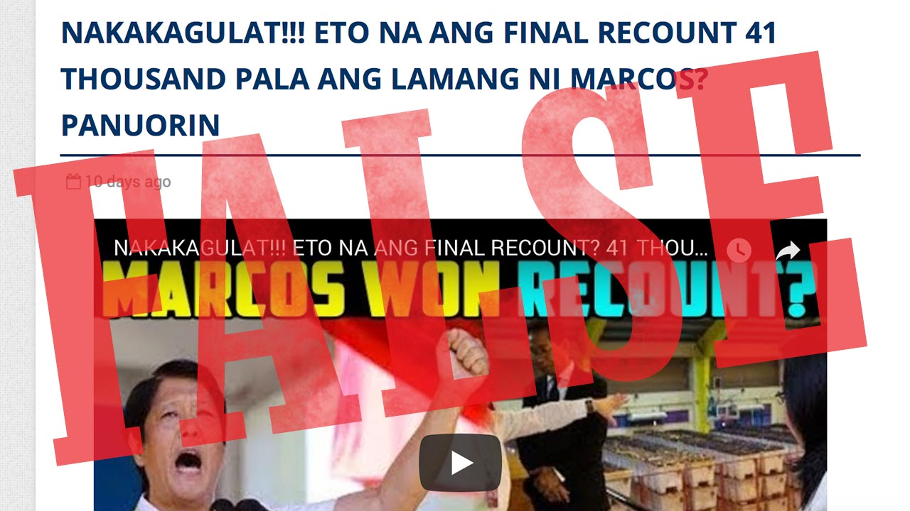 election ballot recounts news and updates | Rappler