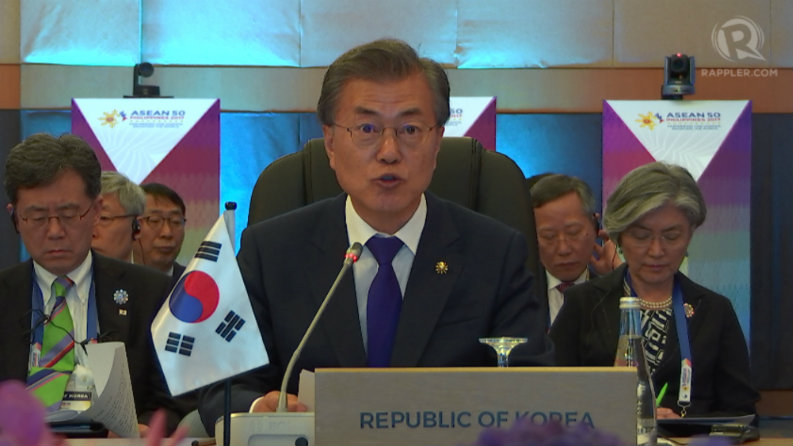 Image result for President Moon Jae-in and ASEAN