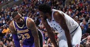 separation shoes c4478 84e7d Embiid delivers double-double as 76ers rout LeBron's Lakers