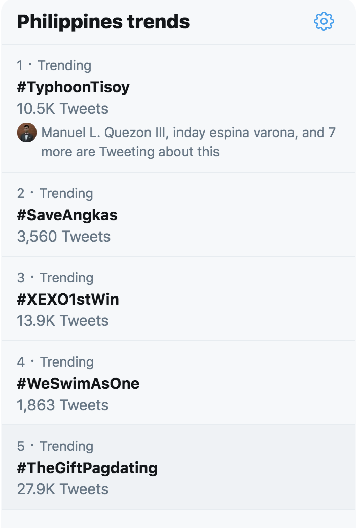#WeSwimAsOne trends as Filipino workers brave Typhoon Tisoy