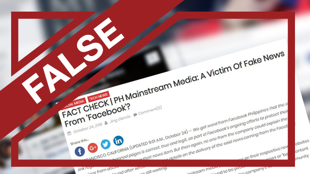Fake False Of Be Ph May 'victims From News Sites Facebook'