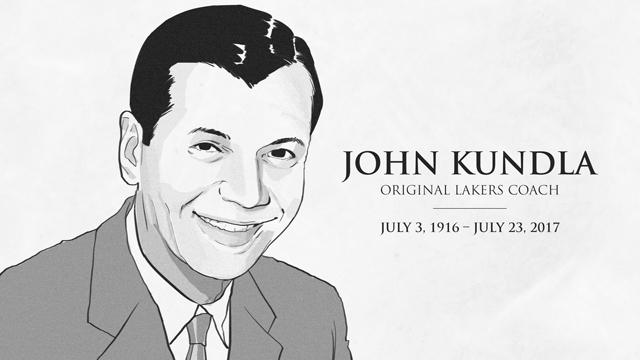 Original Lakers coach Kundla dead at 101