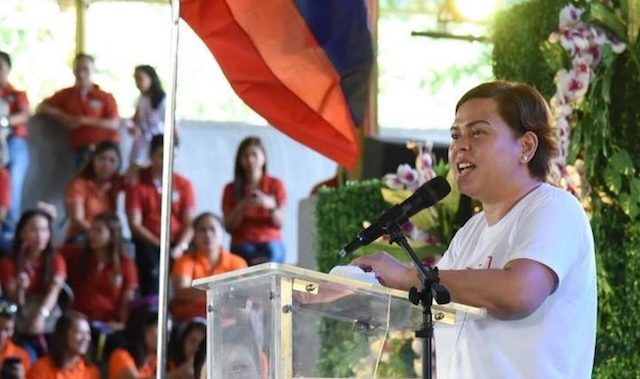 DAVAO CITY CHIEF. Davao City Mayor Sara Duterte Carpio is campaigning against the election of militant party-list groups in the next Congress. Photo from the Facebook page of the City Government of Davao