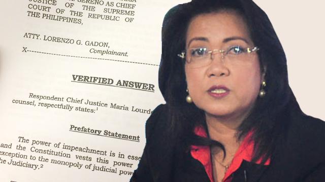 sereno-verified-answer-sept-25-2017_F91850F566E94B1FB882DC2BF31C9FEB - How Sereno answered her impeachment complaint - Philippine Laws
