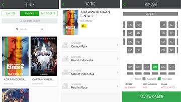Kini Kamu Bisa Pesan Tiket Bioskop Secara Online Dengan Go Jek
