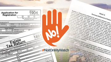 NotOnMyWatch: How to transfer ownership of inherited land