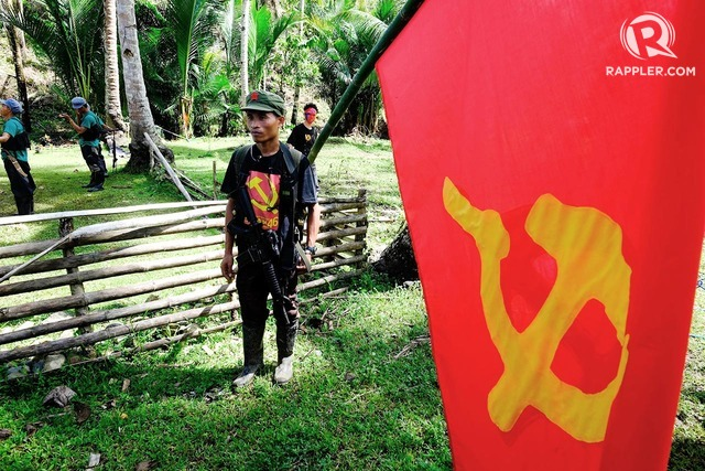 COMMUNIST INSURGENCY. File photo of NPA guerillas inside their camp in Marihatag, Surigao del Sur. Bobby Lagsa/Rappler