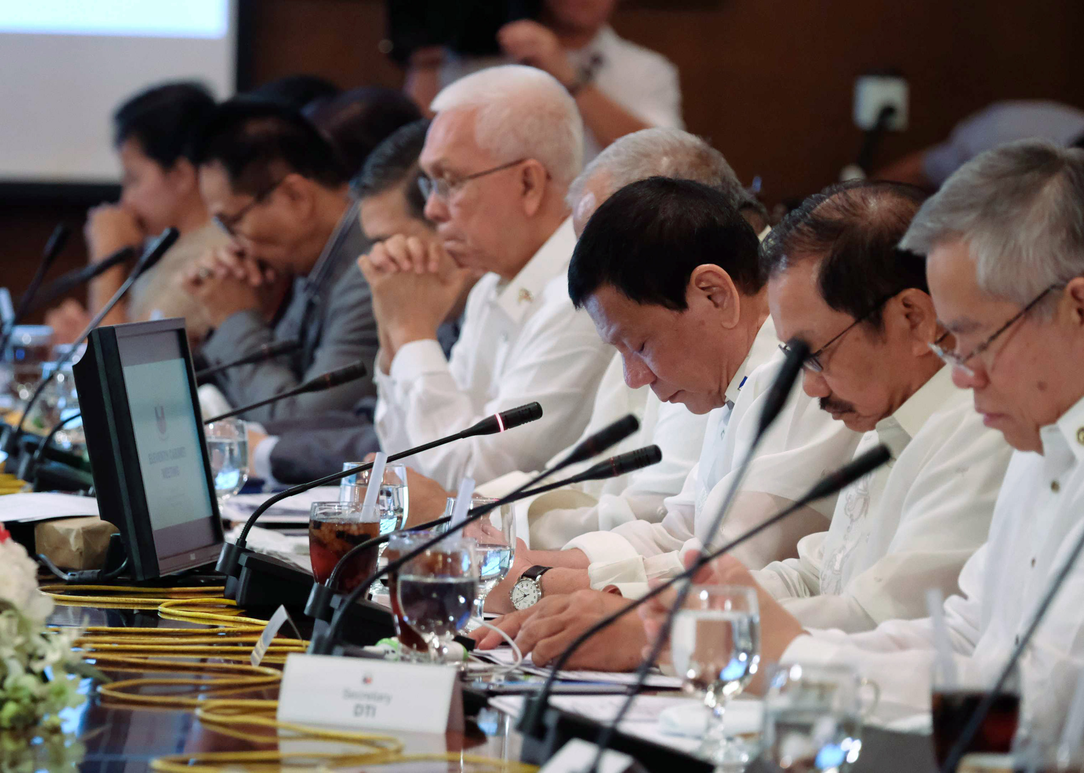 IN THE CABINET. President Rodrigo Duterte presides over the 11th Cabinet Meeting on January 23, 2017. Photo by Ace Morandante/Presidential Photo