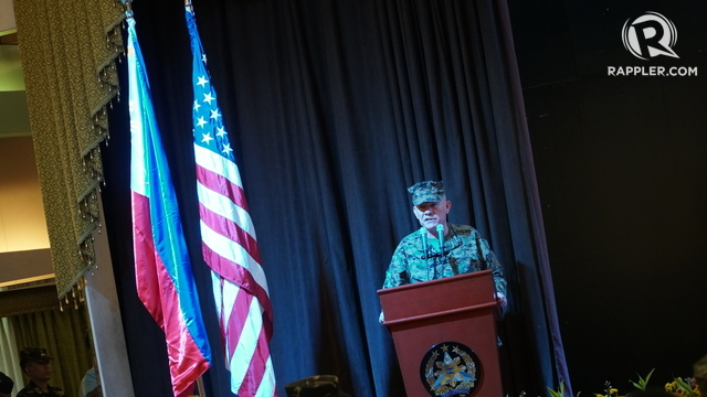 US MARINES. Lieutenant General Lawrence Nicholson leads up to 2,600 American soldiers who are in the Philippines to participate in the Balikatan exercises. Photo by Jeff Digma/Rappler