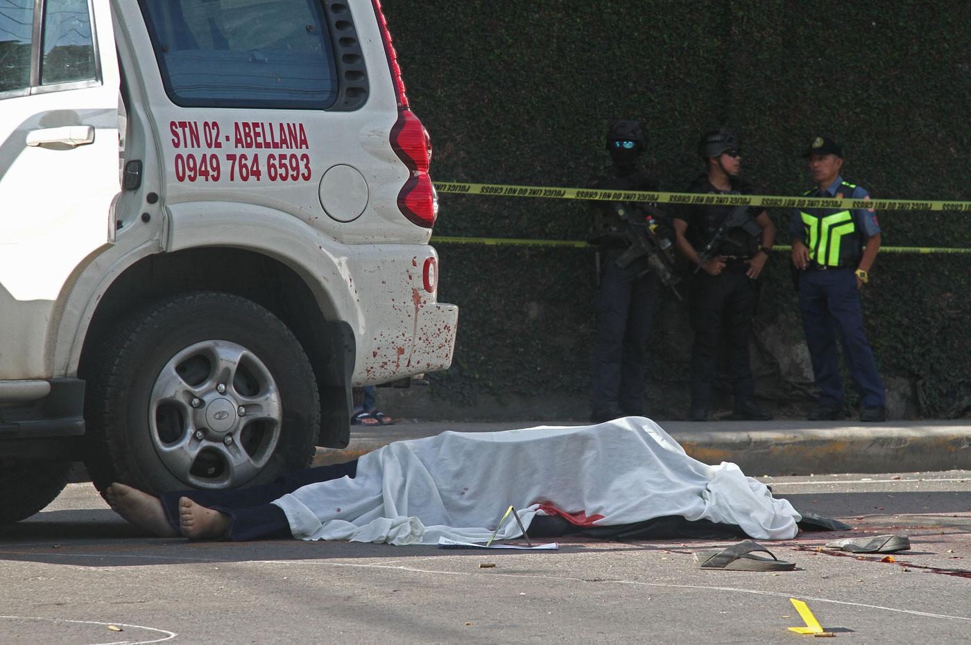 AMBUSHED. Clarin town mayor David Navarro of Misamis Occidental is shot dead by still unidentified gunmen in Cebu City on October 25, 2019. Photo by Gelo Litonjua