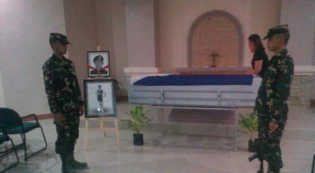 HERO. The remains of valour awardee Technical Sergeant Claudio Forrosuelo are exhumed from Tagum City in April 2018, and will be brought to Taguig City for interment at the Libingan ng mga Bayani. Photo from the Facebook account of Joemar Rey Escaro Yanga, the late soldier's nephew