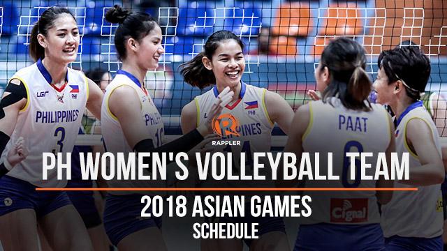 LOOK: 2018 Asian Games PH women's volleyball schedule