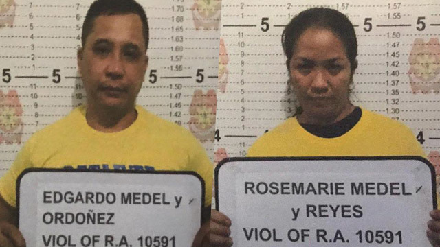 MAUTE SUPPLIERS? Valenzuela City cops arrest two alleged gunrunners for the Maute Group along the Northern Luzon Expressway. NCRPO photo
