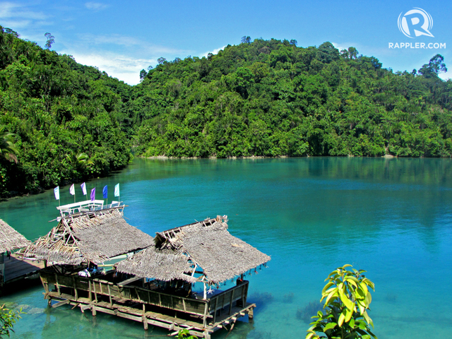 BLUE LAGOON. This quiet lagoon in Surigao teems with stingless jellyfish. Photo by Dennis Dolojan