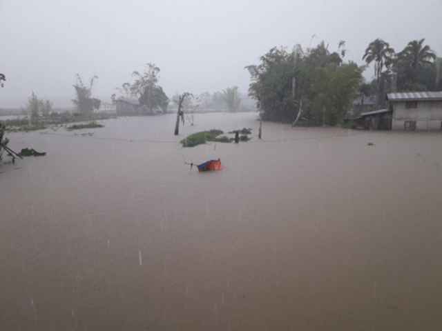SUBMERGED. Several houses in Bubong, Lanao del Sur are under floodwaters due to Vinta. Photo provided by ARMM Assemblyman Zia Alonto Adiong