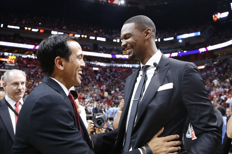 54a80343439 Bosh 'at peace' with retirement as Heat retire his number